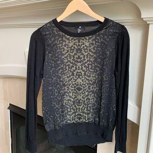 H&M Animal Print Sweater